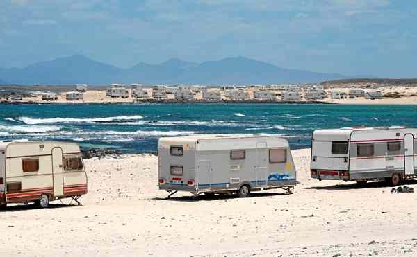 cc acampadas puerto del rosario aparcamiento caravanas