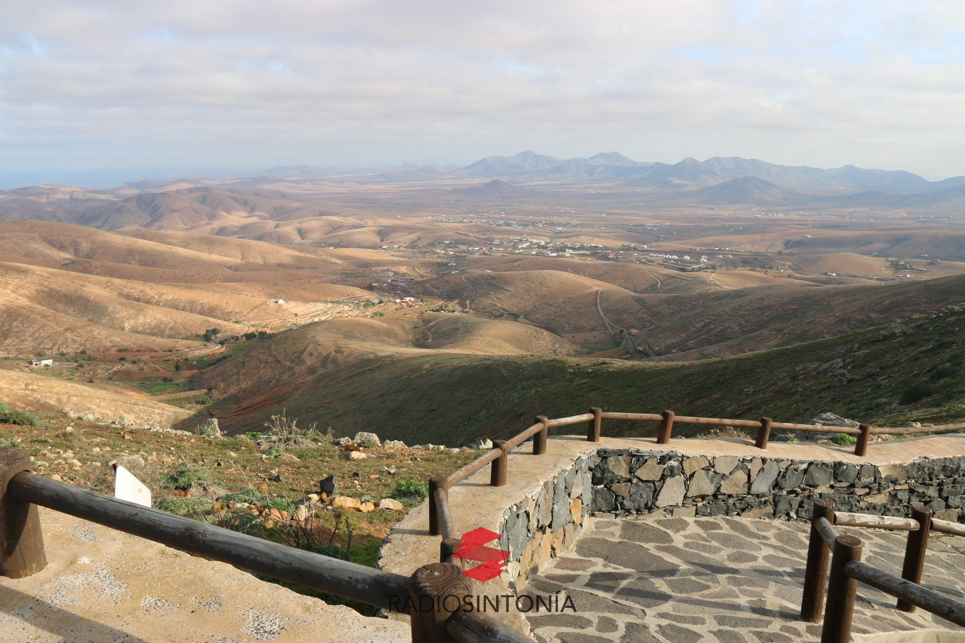 Vistas desde un Mirador de Betancuria, cercano a Morro Velosa