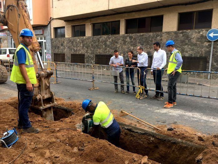 Obras accesibilidad y canalización en Corralejo