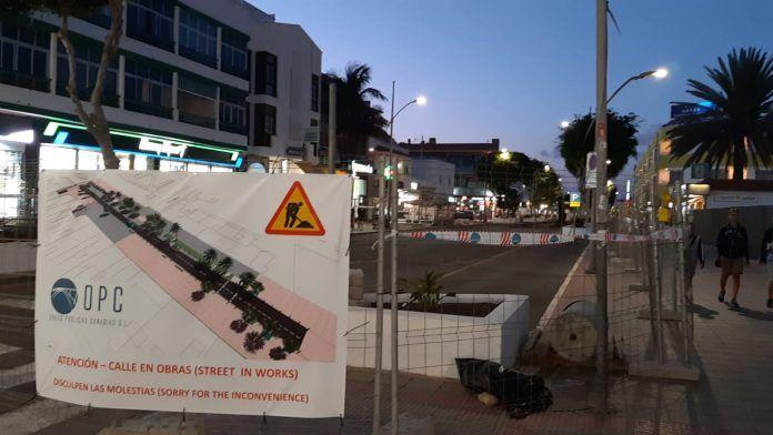 Obras en la Avenida Nuestra Señora del Carmen