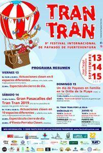 Programa de eventos del Festival Tran Tran en Gran Tarajal 2019
