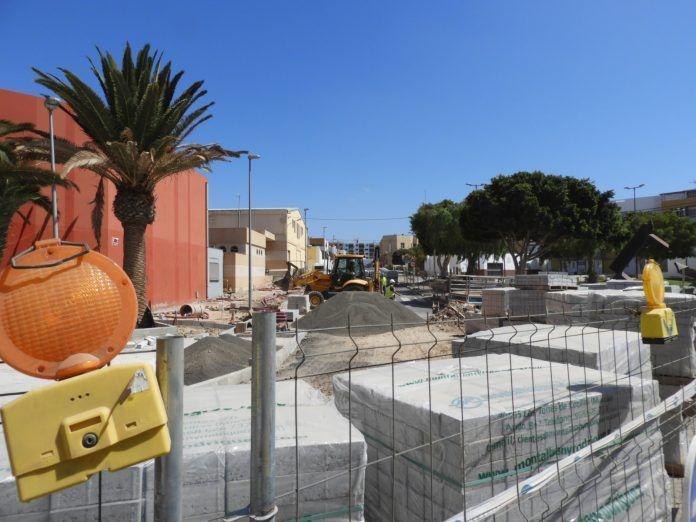 materiales Obras calles de Puerto del Rosario