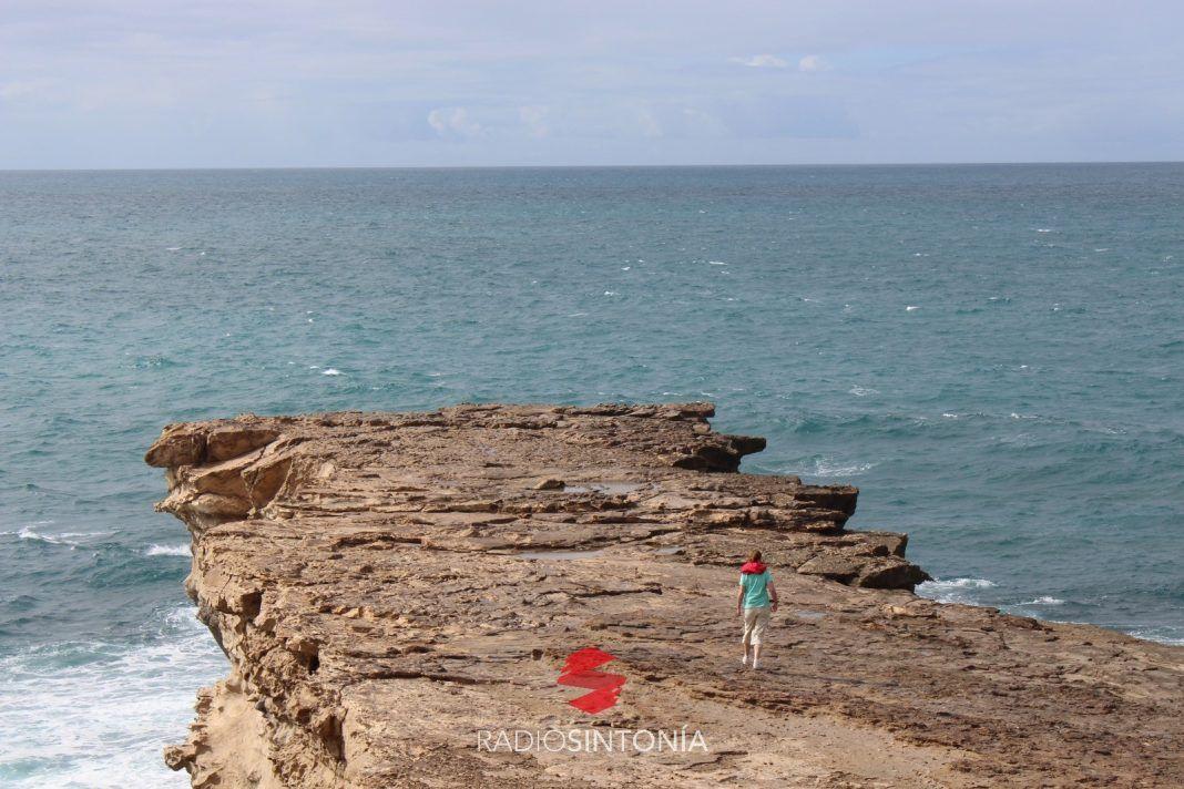 Costa Calma. Formación rocosa saliente, La Pared