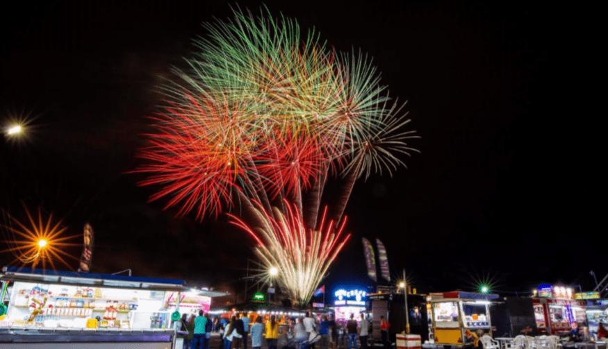 Pirotecnia en las Fiestas de Puerto del Rosario