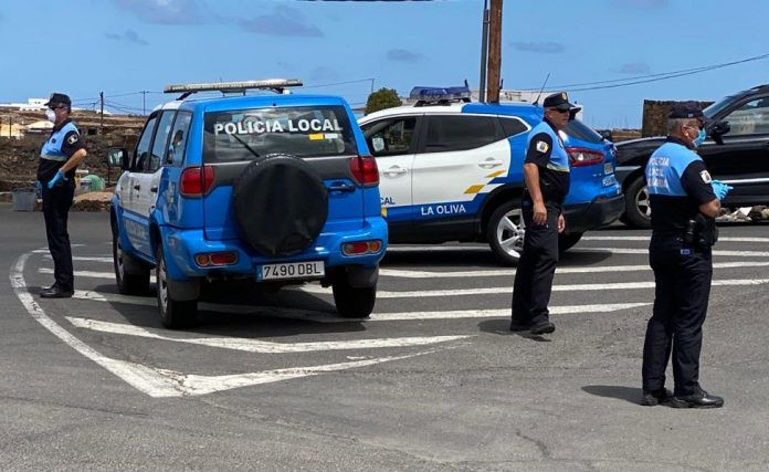 policía local la oliva covid
